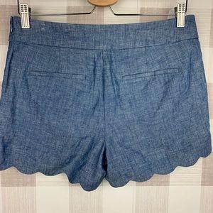 LOFT Shorts - LOFT the Riviera Short Linen/Cotton Scallop Sz 4